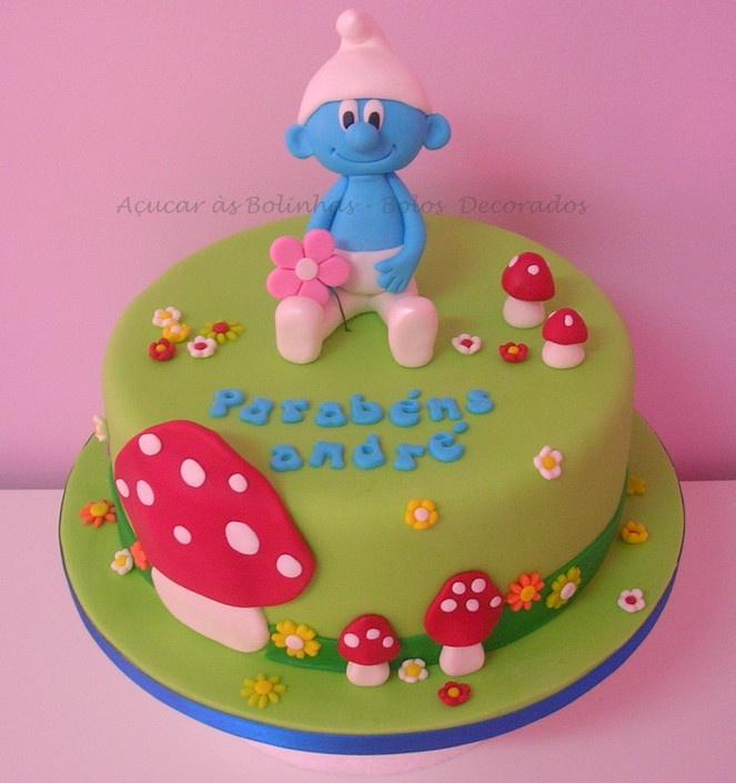 Peachy 11 Smurf Cakes For Boys Photo Smurf Birthday Cake Boys Smurf Funny Birthday Cards Online Overcheapnameinfo