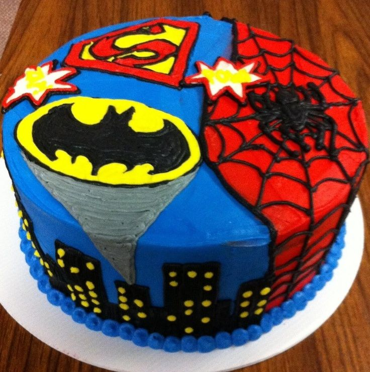 Strange 12 Superhero Birthday Party Cakes Photo Super Heroes Birthday Personalised Birthday Cards Veneteletsinfo