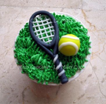 Surprising 12 Tennis Birthday Cake Cupcakes Photo Tennis Cupcakes Happy Funny Birthday Cards Online Alyptdamsfinfo