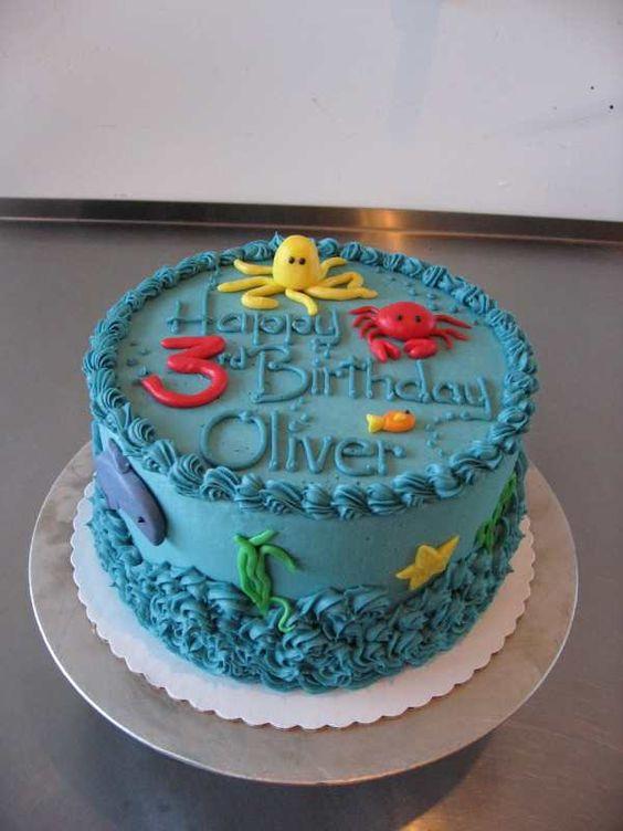 Phenomenal 8 Simple Under The Sea Birthday Cakes Photo Under The Sea Funny Birthday Cards Online Eattedamsfinfo