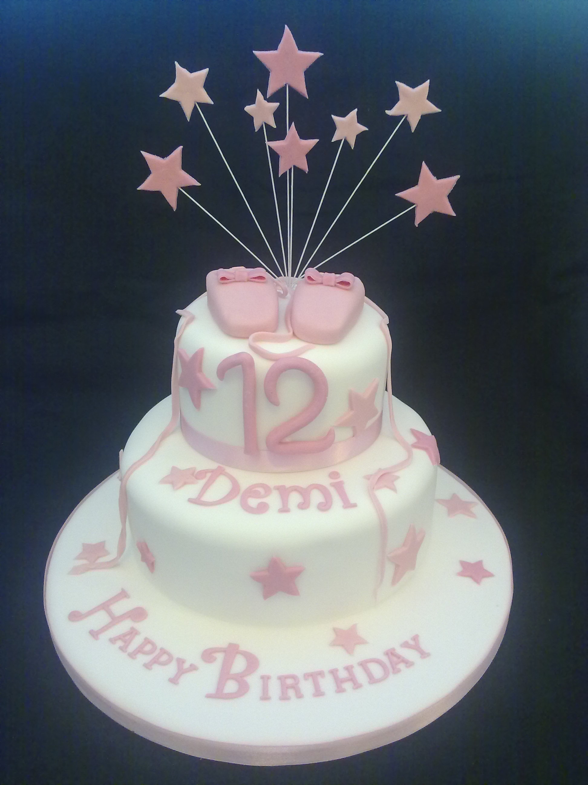 8 Two Tier Girls Birthday Cakes Photo Two Tier Pink Birthday Cake