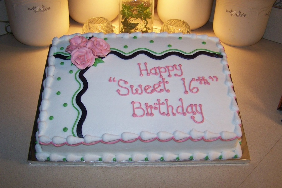 Sheet Birthday Cake Designs Gallery Birthday Cake With Candles