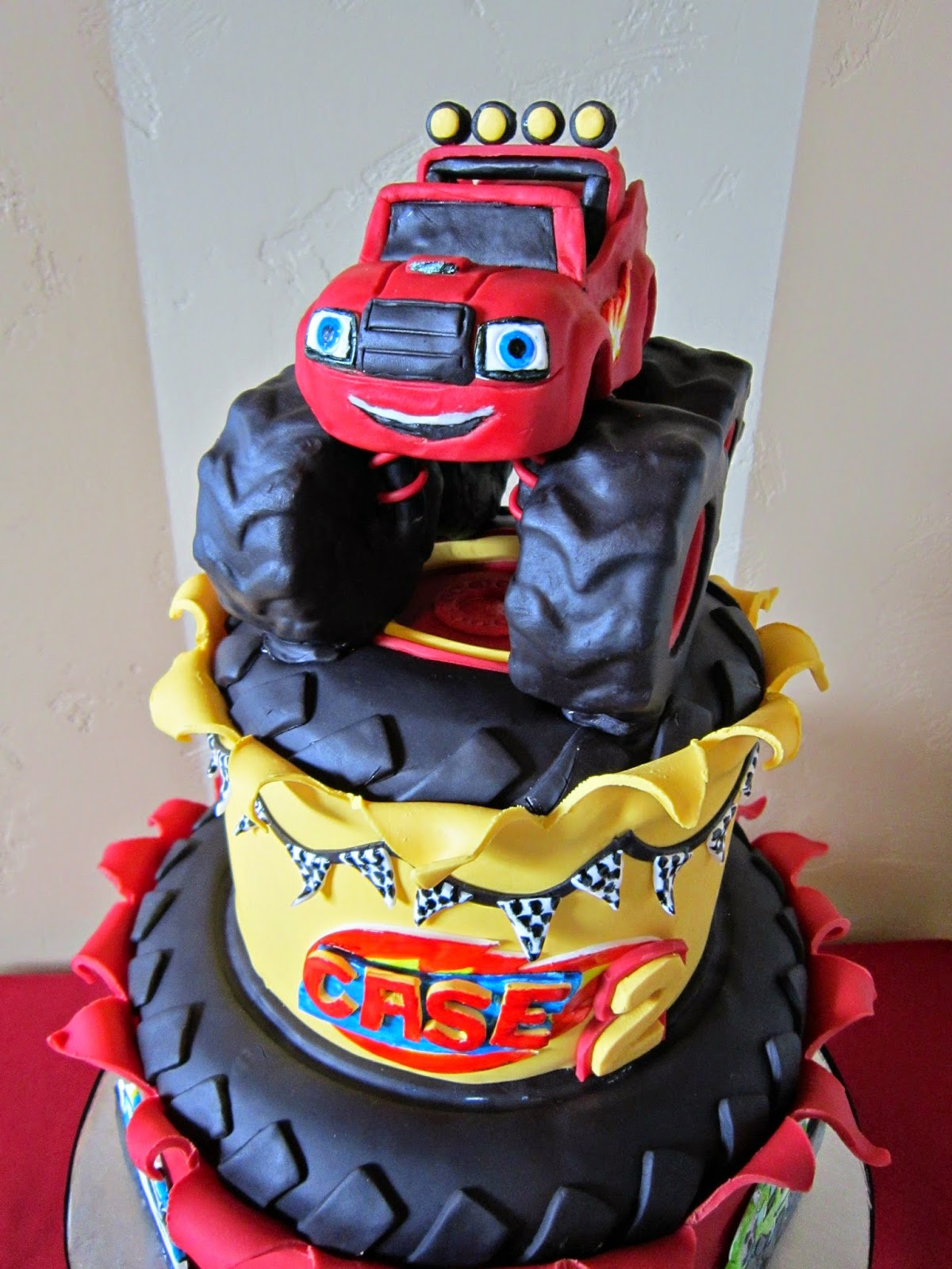Blaze and Monster Machine Birthday Cake