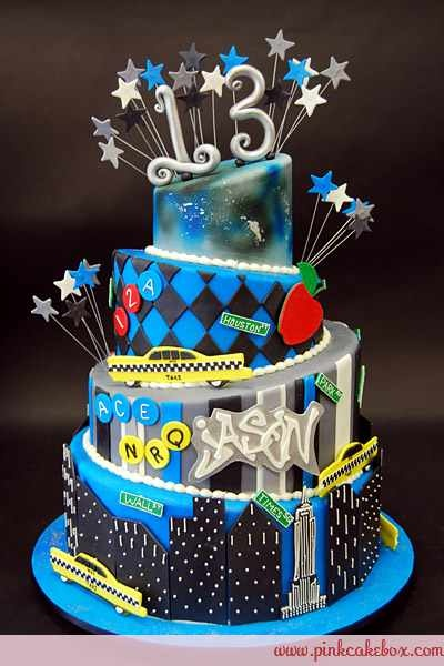 Boys 13th Birthday Cakes