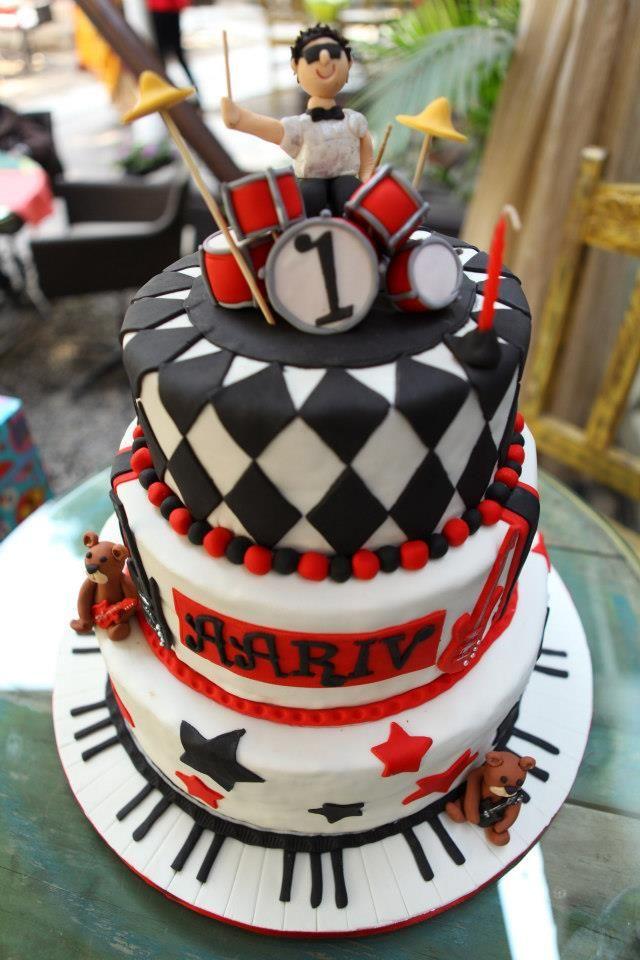 Stupendous 10 Rockstar Cakes For Boys Photo Boys Rockstar Birthday Cake Funny Birthday Cards Online Kookostrdamsfinfo
