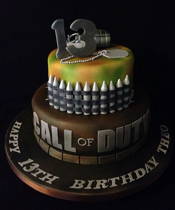 Call Of Duty Birthday Cake Boys