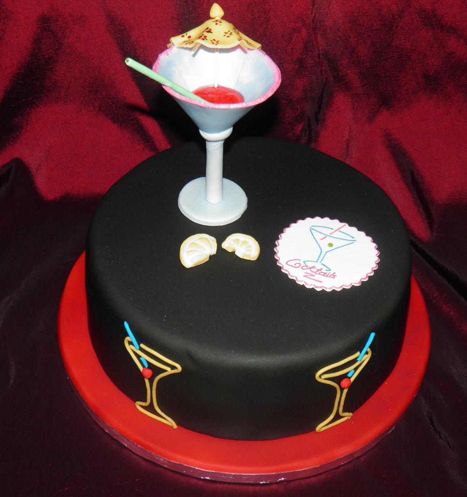 11 Fancy Coctail Birthday Cakes For Women Photo Birthday Cake
