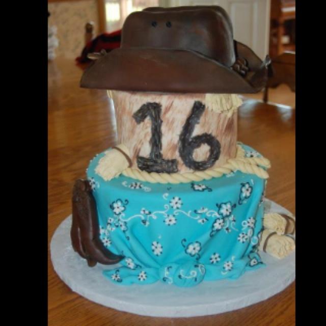Strange 11 Country Style Sweet 16 Cakes Photo Western Sweet 16 Birthday Funny Birthday Cards Online Elaedamsfinfo
