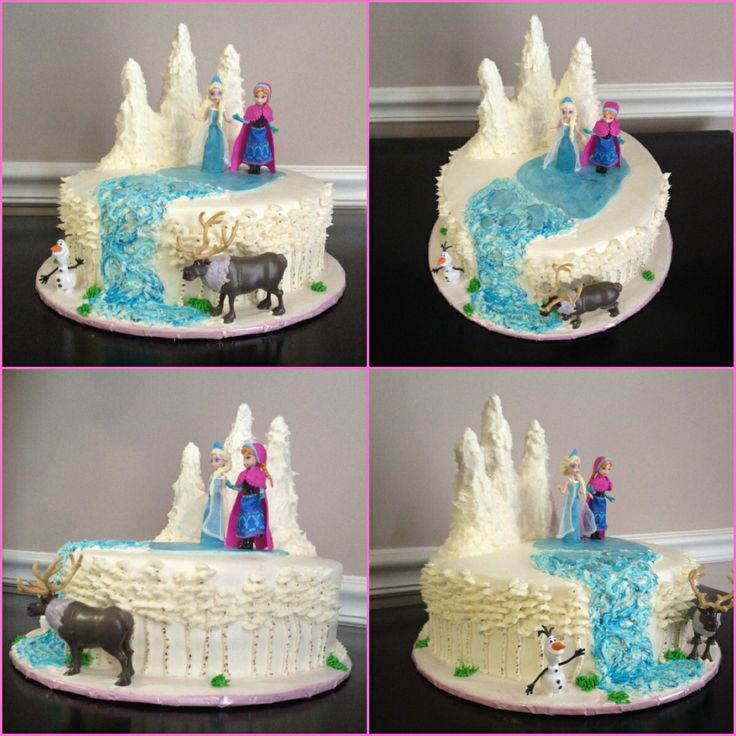 13 Single Layer Disneys Frozen Cakes Ideas Photo Frozen Birthday