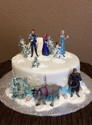 13 Single Layer Disneys Frozen Cakes Ideas Photo Frozen Birthday
