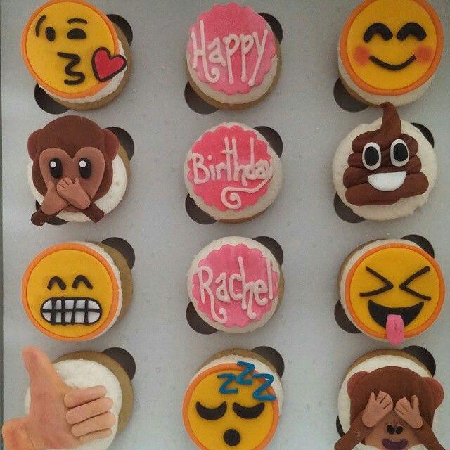 10 Emoji Going Away Party Cupcakes Photo