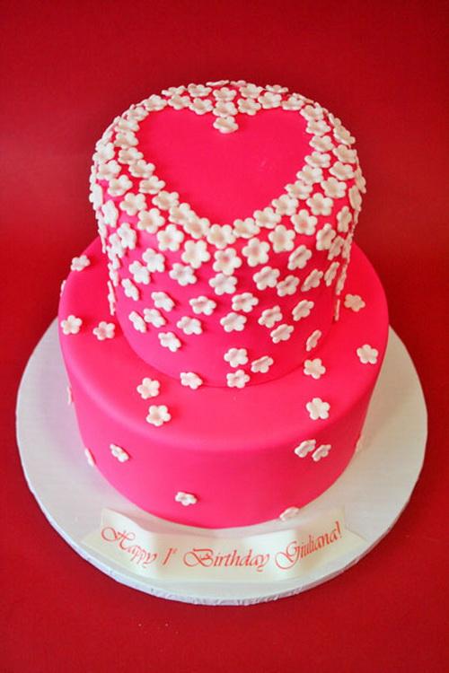 11 Birthday Cakes For Girls Heart Photo Girls Rainbow Birthday