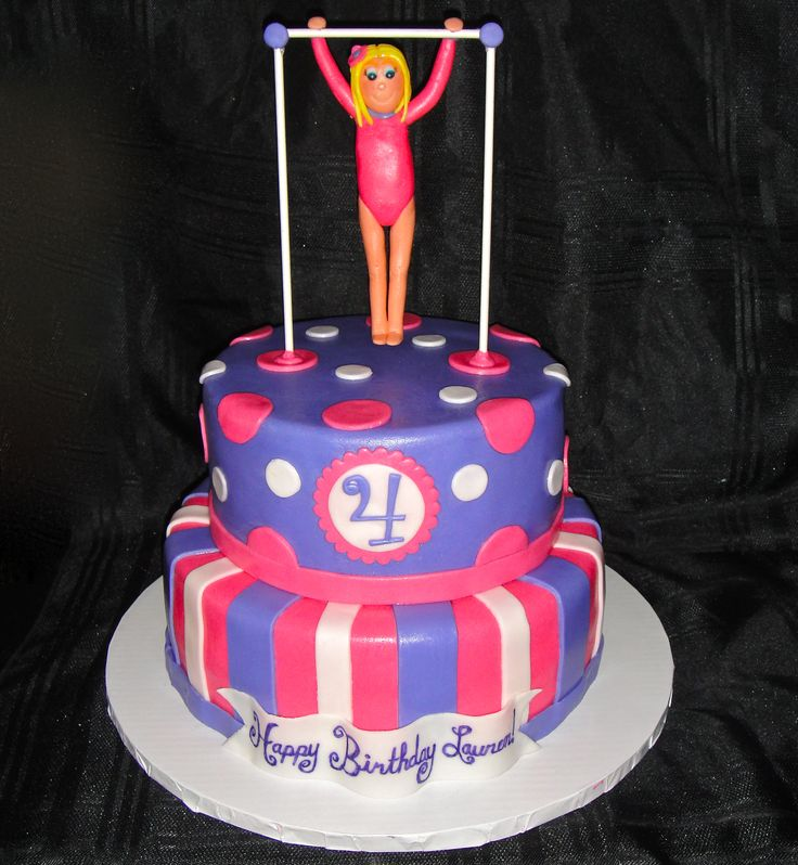 Remarkable 7 Girls Gymnastics Birthday Party Cakes Photo Birthday Cakes For Personalised Birthday Cards Paralily Jamesorg
