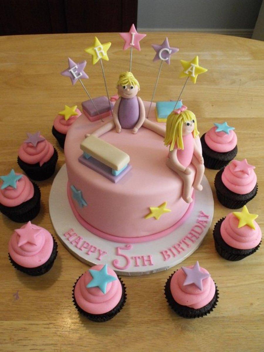 Gymnastics Theme Birthday Cake