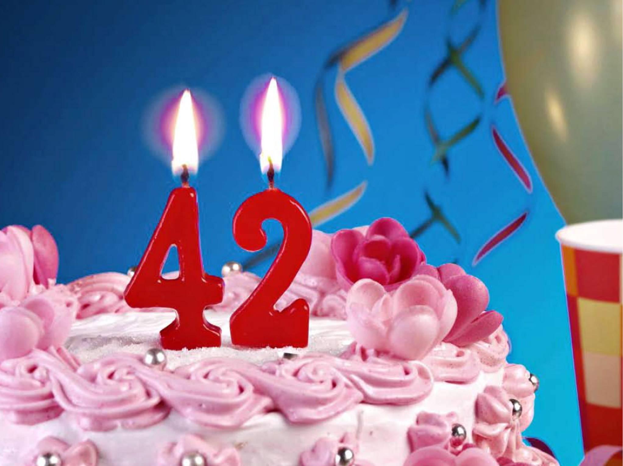 Phenomenal 6 42Nd Birthday Cakes For Mom Photo Happy 42Nd Birthday Cake Funny Birthday Cards Online Fluifree Goldxyz