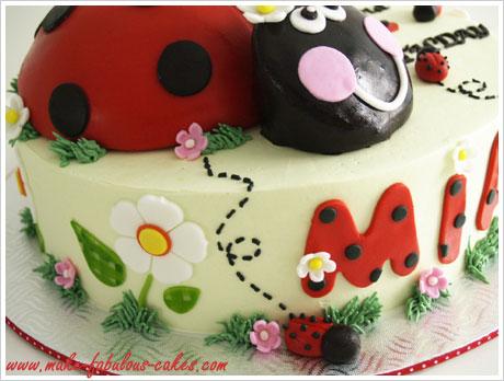 Wondrous 7 Ladybug Birthday Cakes Elizabeth Photo Lady Bug Birthday Cake Personalised Birthday Cards Veneteletsinfo