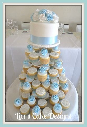 13 Red Baby Blue Wedding Cupcakes Photo Pink And Blue Cupcake