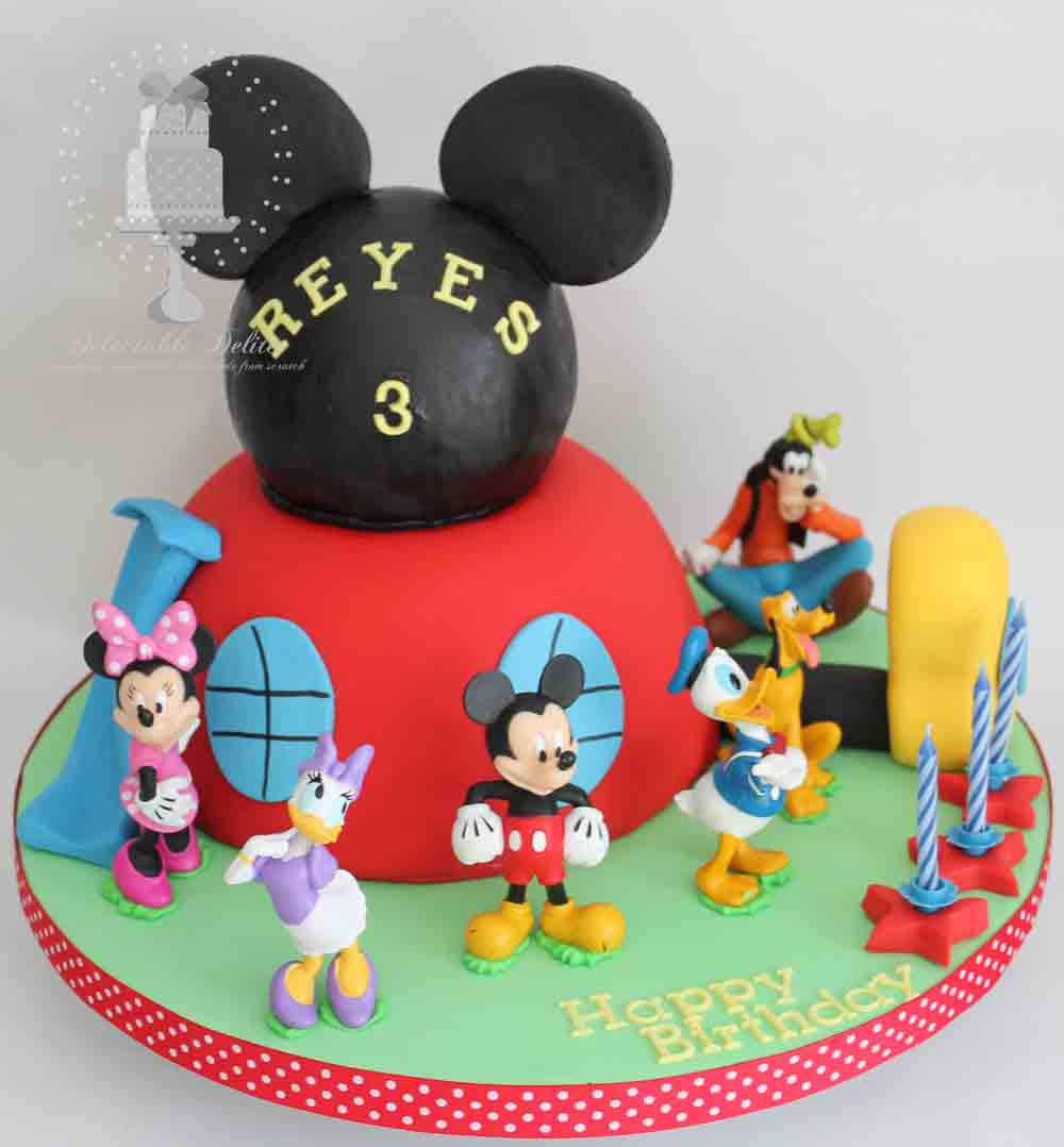 Cool 6 Mickey Mouse Clubhouse Birthday Cupcakes Photo Mickey Mouse Personalised Birthday Cards Veneteletsinfo