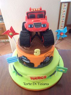 Monster Machine Birthday Cake Blaze