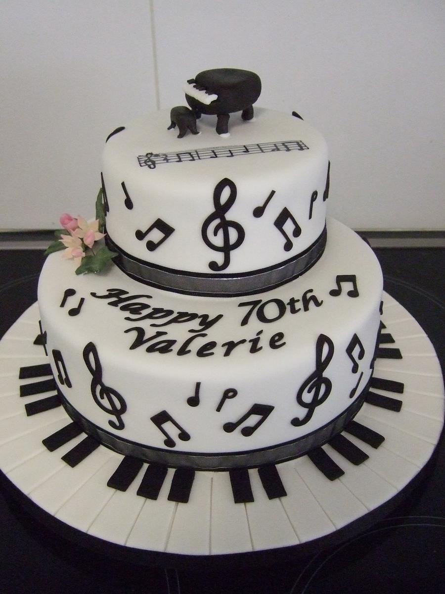 5 Musical Cakes Fondant Photo Music Note Birthday Cake Music