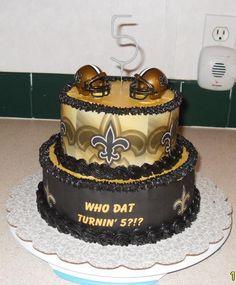 Terrific 12 New Orleans Saints Cake By Creative Cakes Harvey Louisiana Funny Birthday Cards Online Aboleapandamsfinfo