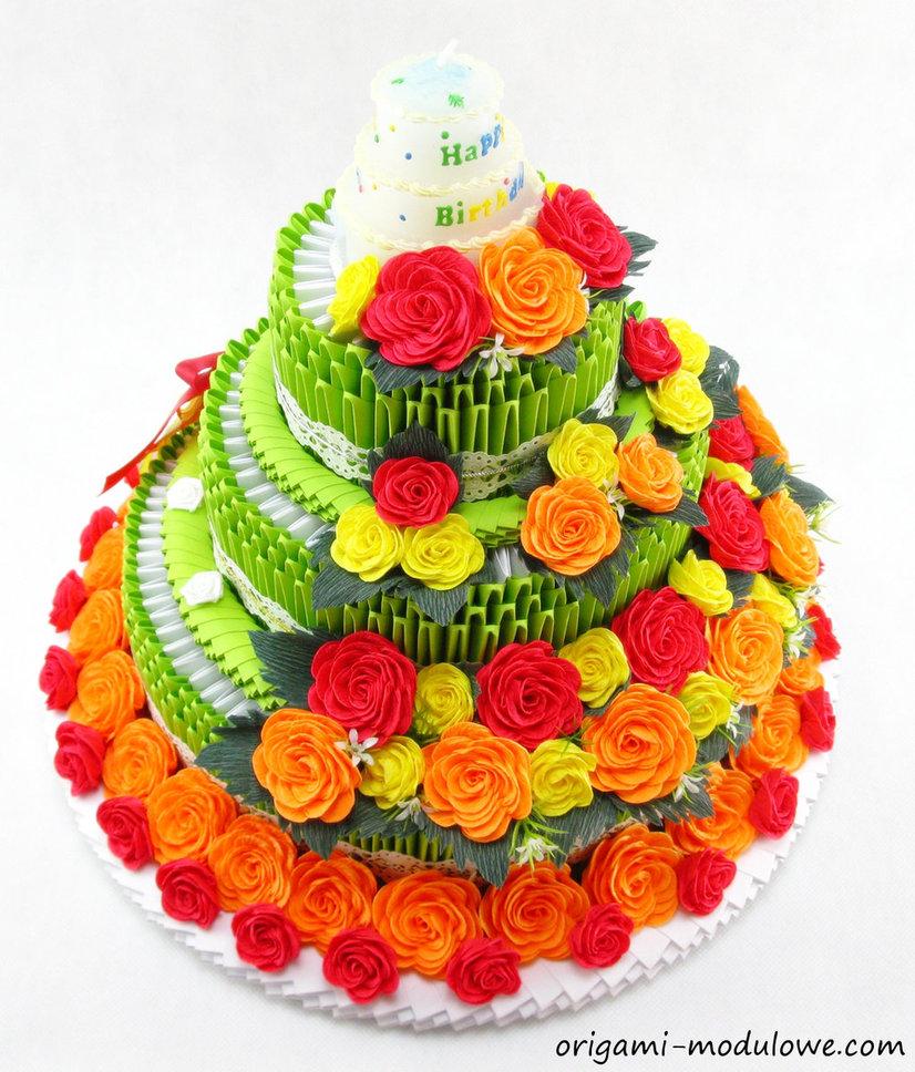 11 Origami Birthday Cupcakes Photo Origami Birthday Cake 3d