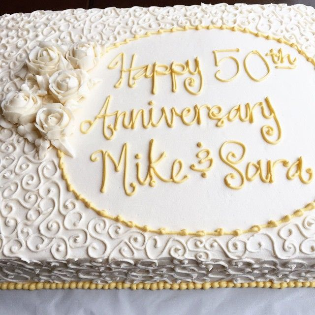 13 50th Anniversary Sheet Cakes Pinterest Photo - 50th Wedding ...