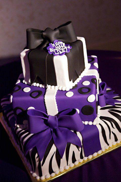 Astonishing 11 Lavender And Purple Birthday Cakes Photo Purple And White Personalised Birthday Cards Arneslily Jamesorg