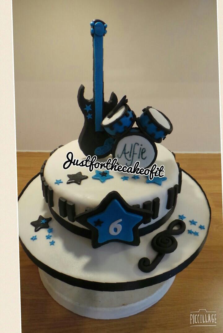 10 Rockstar Cakes For Boys Photo Boys Rockstar Birthday Cake Rock