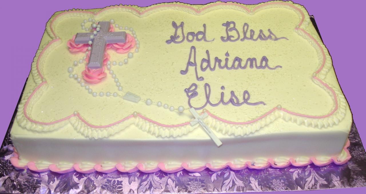 9 ShopRite Communion Cakes Photo ShopRite Christening Cakes