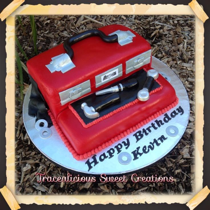 8 Facebook Birthday Cakes With Tools Photo Tool Box Birthday Cake