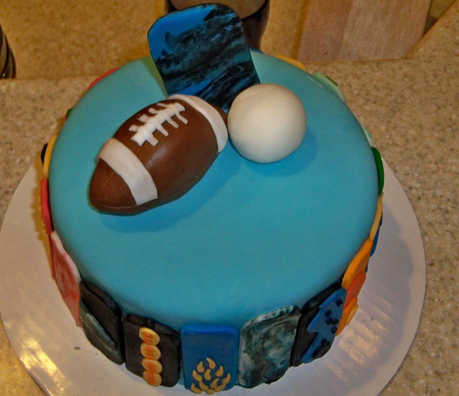 Image Of Birthday Cake Boy Football Football Birthday Cake