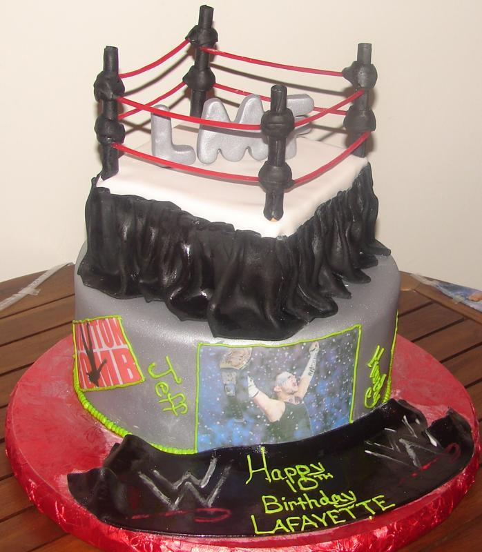 9 Wrestling Themed Birthday Cakes Photo Wwe Wrestling Birthday