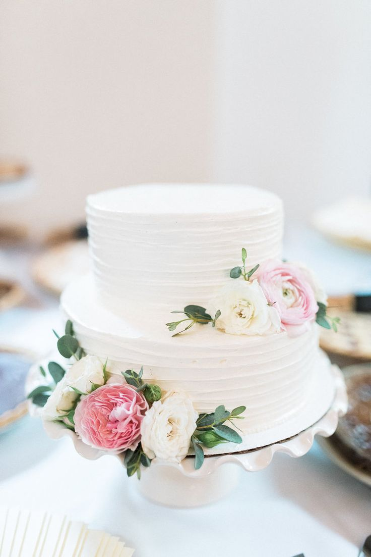 11 Flowery Wedding Cakes 2 Tier Photo Two Tier Wedding Cake 2