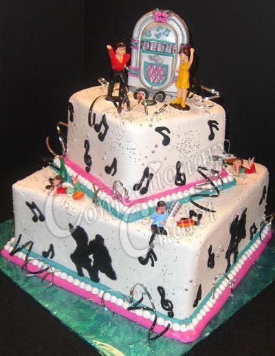 50s Theme Party Cake