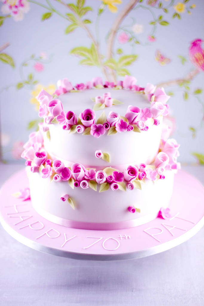 Beautiful Flower Birthday Cake