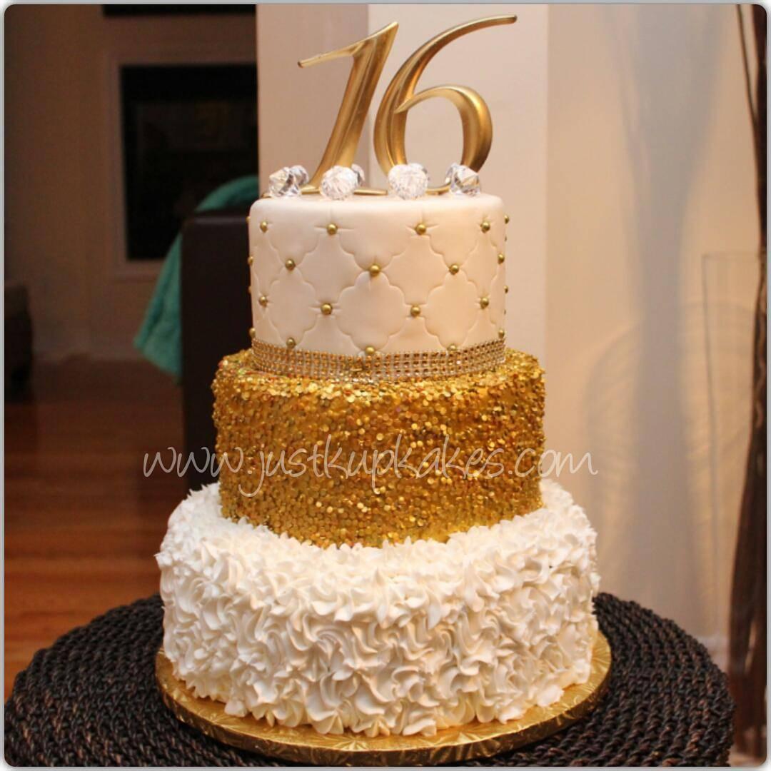 12 Black And Gold Masquerade Sweet 16 Birthday Cakes Photo Black