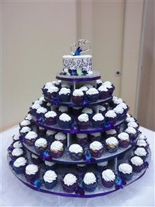 6 Blue And Purple Wedding Cupcakes Photo Blue And Purple Flower
