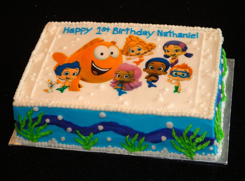 Pleasant 12 Bubble Guppies 1St Birthday Cakes Photo Bubble Guppies Birthday Cards Printable Inklcafe Filternl