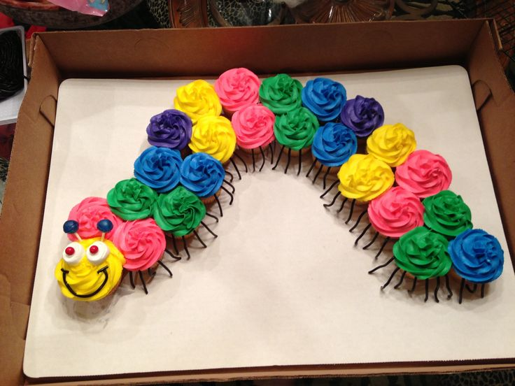 Cupcake Caterpillar Birthday Cake