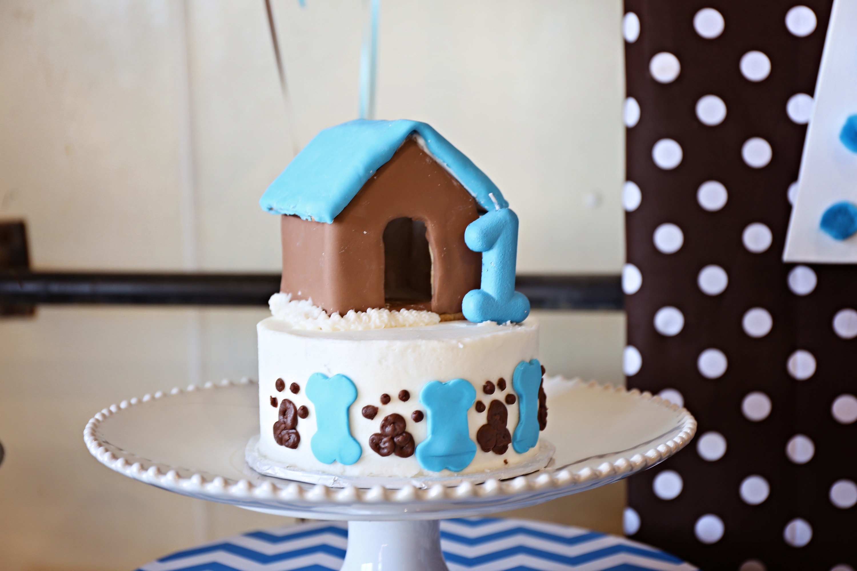 Dog Themed Birthday Party Cake