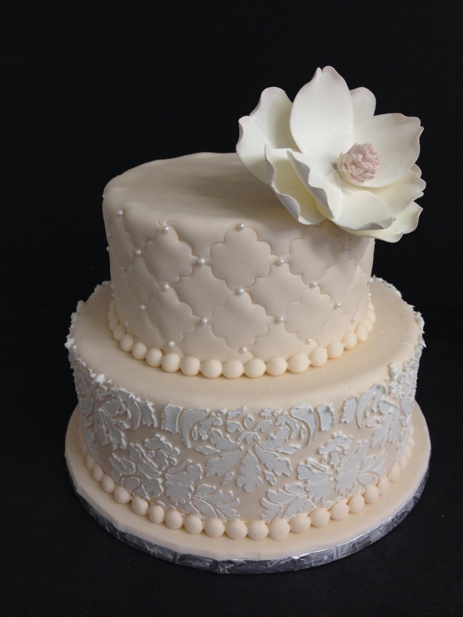 13 Classy Fondant Cakes Photo Lace Wedding Cake With Fondant