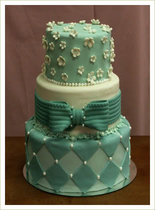 11 Green Fancy Birthday Cakes Photo Mint Green and Pink Wedding
