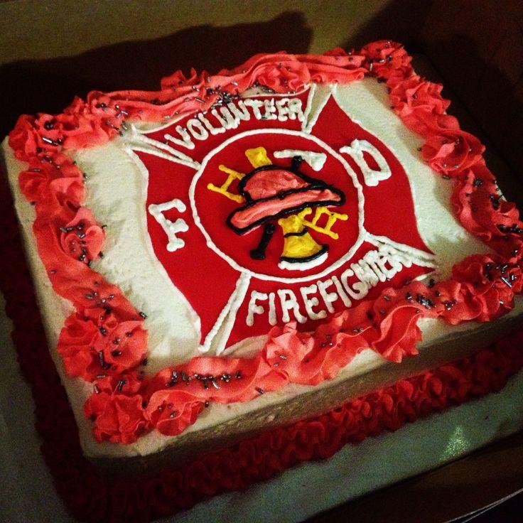 12 Fireman Sheet Cakes Photo Firefighter Birthday Sheet Cake