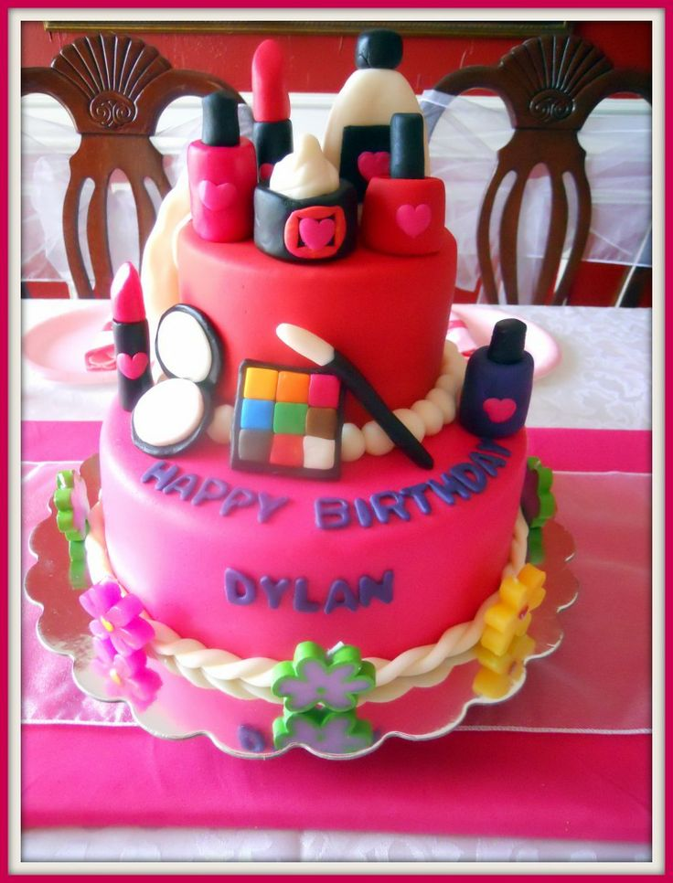 10 Easy Birthday Cakes Spa Photo Spa Birthday Cake Spa Party Cake