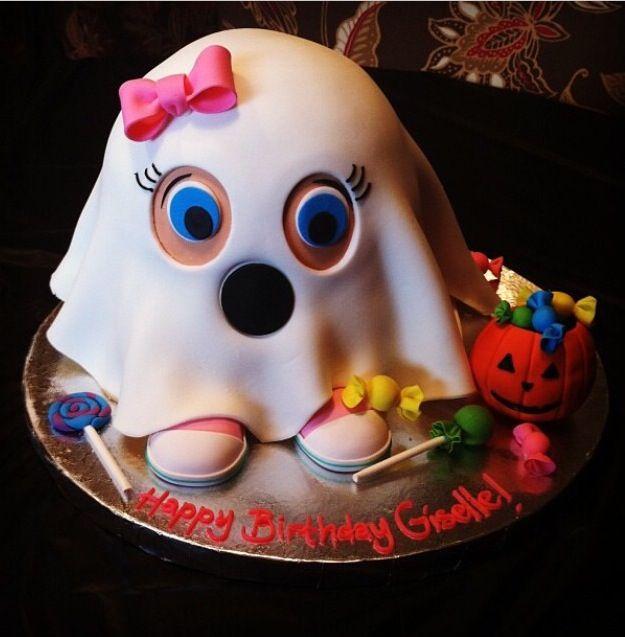 11 Ghost Halloween Birthday Cakes Photo Halloween First Birthday
