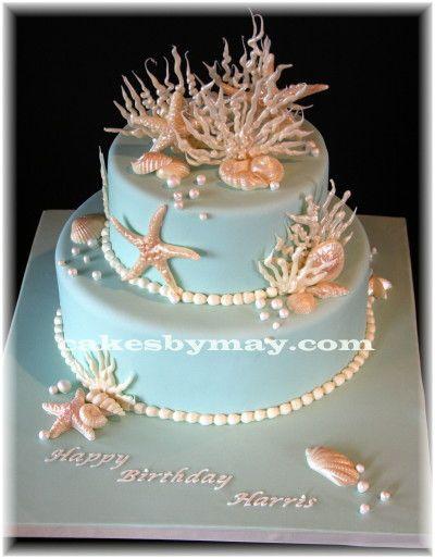 Wondrous 11 Birthday Cakes Ocean Coral Photo Happy Birthday Beach Cake Personalised Birthday Cards Sponlily Jamesorg