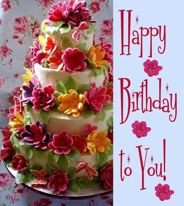 Happy Birthday Pics W Flowers Flowers Healthy