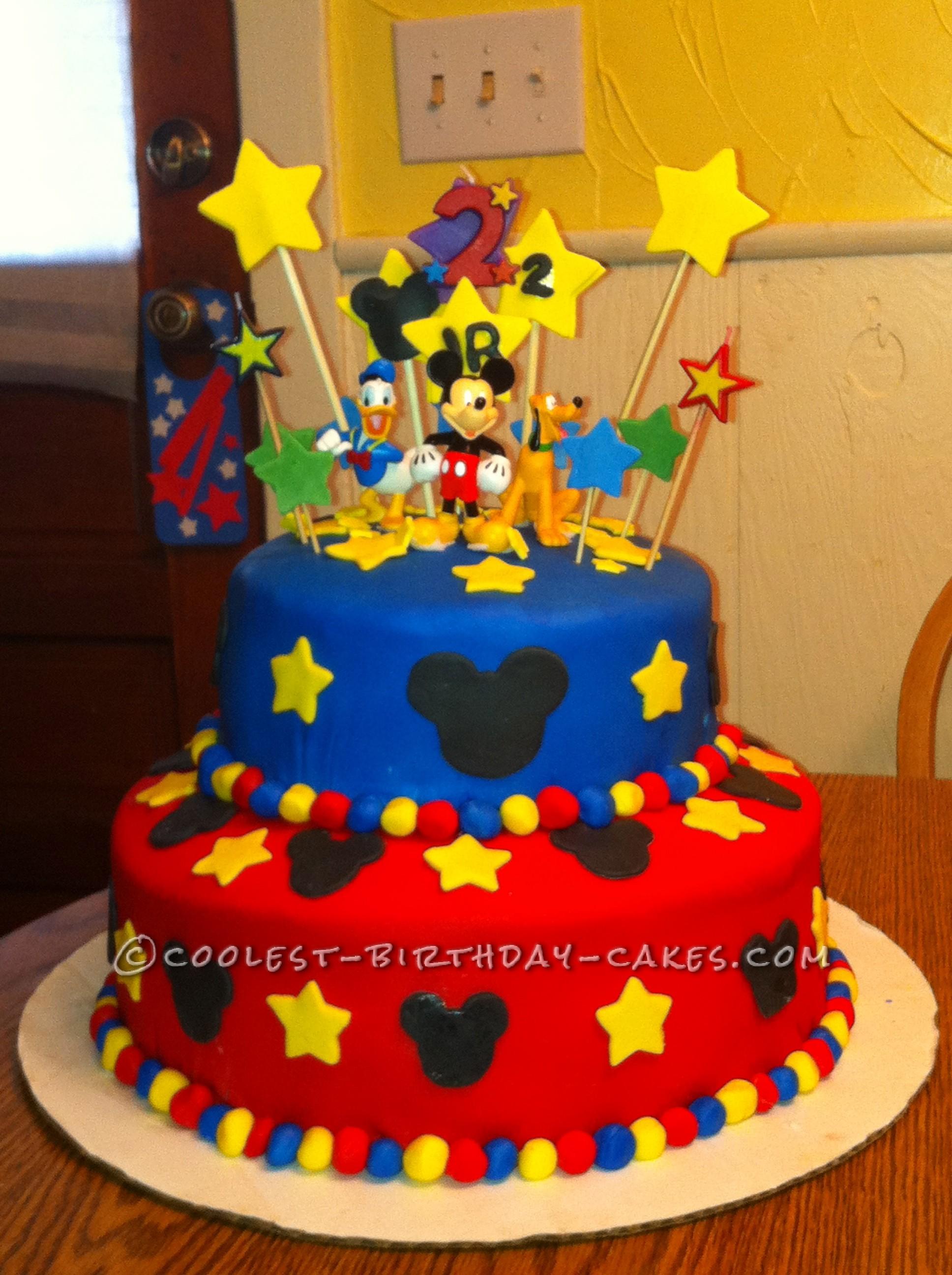 6 Pinterest Homemade Birthday Cakes Photo Homemade Mickey Mouse