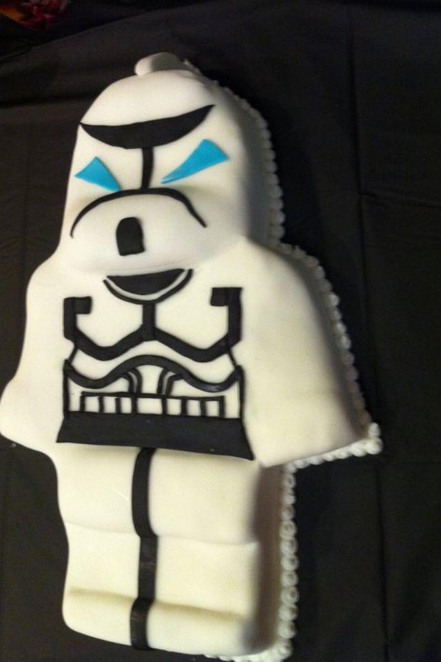 Marvelous 11 Lego Stormtrooper Birthday Cakes Photo Lego Stormtrooper Cake Personalised Birthday Cards Vishlily Jamesorg
